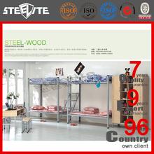 Hot selling modern metal hostel bunk bed kids furniture metal bunk bed