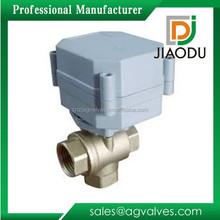 Yuhuan fabricante de gran calidad forjada npt 600 wog 1000 wog niquelado latón válvula de bola motorizada 3 way para agua