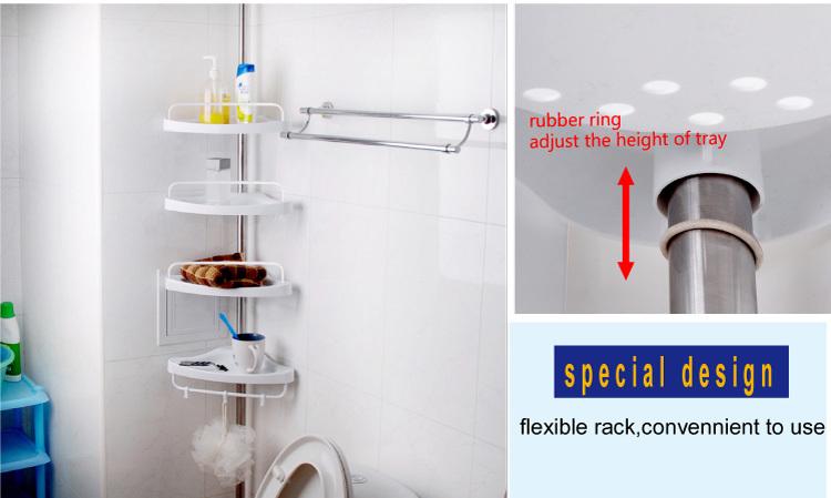 BYN 4 tier cornered bathroom furniture corner shelf for bathroom plastic shower shelf DQ-601D
