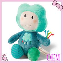 Customized logo branded plush toy dolls soft plush doll toy