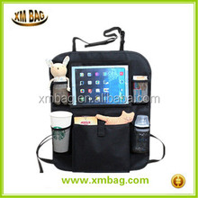 black polyester cheap backseat organizers with pouch for accessaries and baby toys ,car hanging organizer type