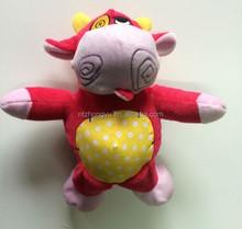 ตุ๊กตาสัตว์ตุ๊กตาของเล่นกระทิงแดง