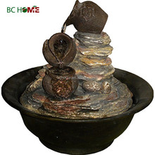 2015 new high quality resin water fountains crock and basin