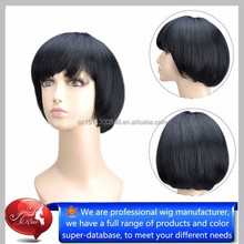 Short style synthetic wigs for women top kanekalon silicone wigs