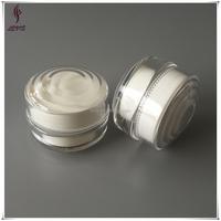 Luxury 15g plastic acrylic color glitter UV gel jar