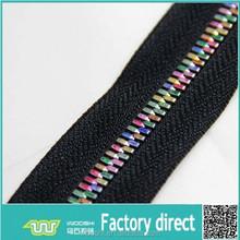 5# rainbow zippers long chain Y type copper teeth zip by yard
