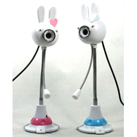 Sweet Rabbit USB Webcam 1024*768 PC Net HD Webcam With Quality Mic for Laptop/Desktop Free Shipping Super Christmas Gift 2014