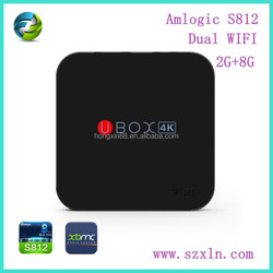 Vsspeed hot sales smart tv box 4k VS812 amlogic s812 cpu mxq m8 mx