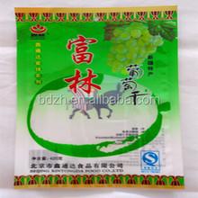 Ecofriendly food grade plastic packaging bag for raisins