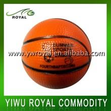 Brown Imprint PU Basketball Promotional Anti Stress Ball