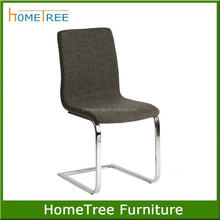 cheap metal chairs,brown fabric covered dining chair