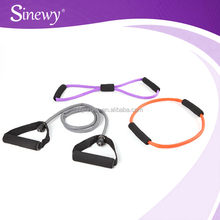 Wholesale stretching Resistance tubing/excercise Set With Foam Hand