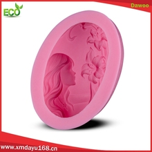 Hot sale Eco-friendly girl shape silicone soap molds