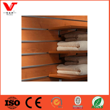MDF slatwall panel 18mm / slot board for display accessories/ manufactuer