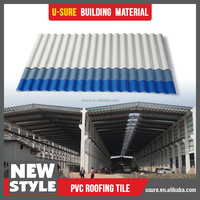 2.5mm thick upvc corrugated roof sheet/asa coated pvc wave roof tile