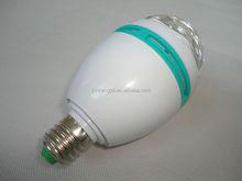 Lights Bulb Led E27 RGB 3W Rotating mini laser stage lighting price