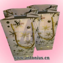 high quality customized elegant paper shopping gift packing bag (PP-030)