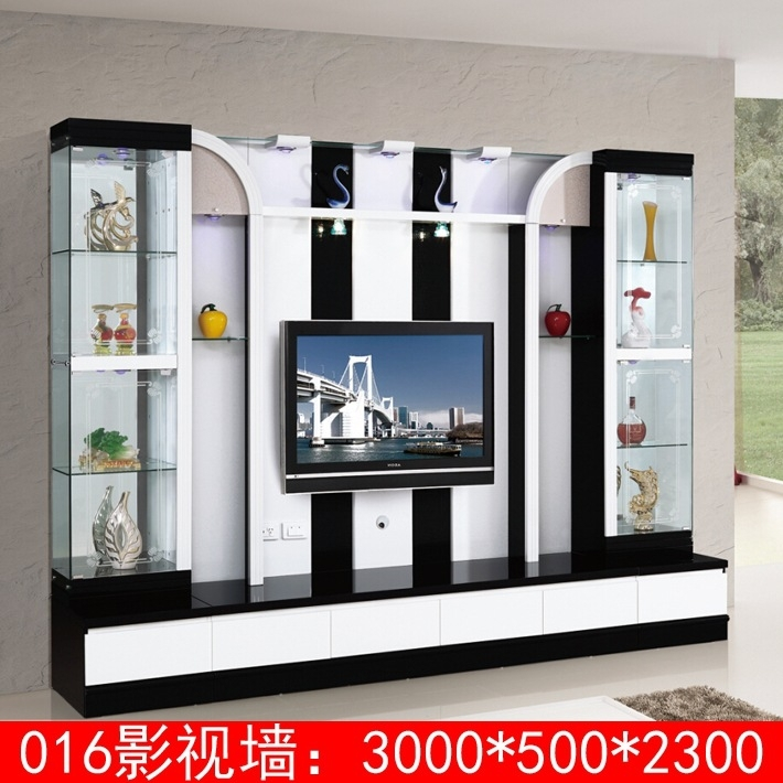 Living Room Furniture Lcd Tv Wall Unit Wood Led Tv Wall Unit Design ...