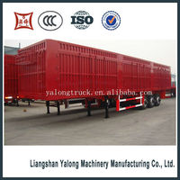 china manufacturer best-selling van type transport semi-trailer truck trailer