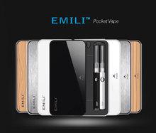 cheap free shipping e cigarette kit the best emallvapor mini EMILI vapor smoking kit with 1300mAh power case
