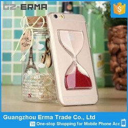 Glass Sand Timer Design Fancy Mobile Phone Covers for iphone 6