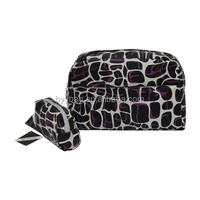 High quality cute purple stone pu cosmetic bag,classical cosmetic bag