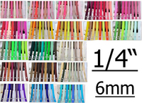"""1/4""""(6mm) Solid Color Grosgrain Craft Ribbon Decoration Wrap Ribbons For Hair Bow"""