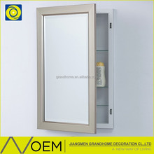Modern Products Modern bathroom storage cabinet, Brush Nickel Recessed Bathroom Cabinets