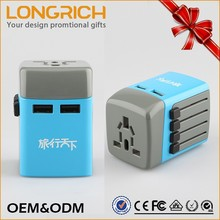 Wholesale New Promotional Gift Ideas Multi Mobile Phone Universal Travel Adapter With Usb Charger