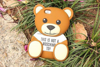 3D Cute teddy bear design phone case for iphone 6 animal silicone case