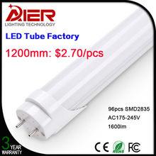T8 aluminum led tube 4ft 1200mm 18Watt factory price