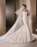 (MY20151125H) Marry You Adult White Wedding Gowns And Bridal Dress Buttons Down The Back