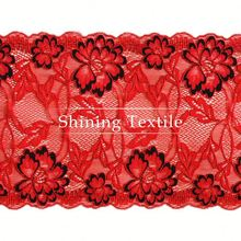 90% Nylon With 10% Spandex Stretch Cloth Store Laces Trim For Lingerie