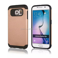 Top Selling Hybrid Slim Armor Shock Proof Luxury Case Cover Made Of PC+TPU Case Combo For Samsung Galaxy S6