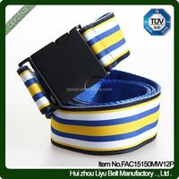 Newest Simply Designer Fashion Americana Golf Club Webbing Stripe Waist Belt Interlock Buckle/cinto de Lona estilo casual