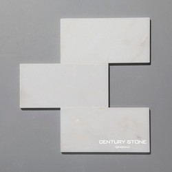"""first class 3""""*6"""" polished white marble flooring tile for bathroom"""