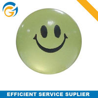 Transparent Mini Rubber Ball for Dogs with Smile Printing