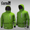 Worested green eco-friendly polyester windproof sport jacket thin texture men ski jacket winter