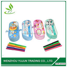 lovely water-proof pencil case / promotional plastic mateiral pencil bag / clear plastic zipper file bag for pencil