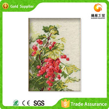 Beautiful shiny plastic stone mosaic red currant fruit drawing printing painting