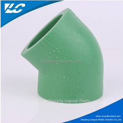 50 Diameter Green PPR Fitting 45 Degree Brass Street Elbow/ELBOW 45 For PPR Pipe/PVC Fitting 45 Elbow