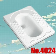4024 floor connects squatting pan cartton baby ceramic pan