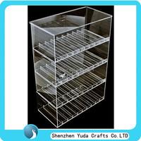 High transparent acrylic e-juice display, clear plexiglass display case for e-liquid, e-juice display cabinet
