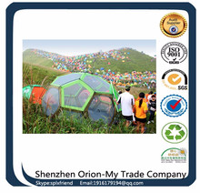one bedroom & one living room double layer tunnel family and party camping tent football Soccer Goal