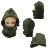Hot winter neck warmer for man or woman head hat fleece beanie protected ear ski snowboard cap full face mask