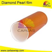 Carlas diamond pearl automotive wrap vinyl material