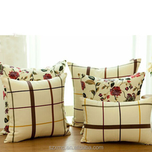 king size large home use pillow customised light color plain digital printing 100% cotton decorative throw pillow /pillow cover