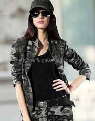 2015 latest fashion hot sale Women camo jacket
