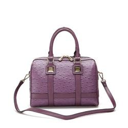 CLASSICAL!Ostrich grain boston bag fancy ladies side bags price, list branded handbags