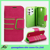 Custom flip cover for samsung galaxy S4 back cover with card slots